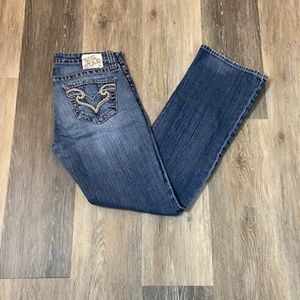 BIG STAR Remy Low Rise Fit Boot Cut Jeans Size 28